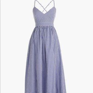 Jcrew gingham dress